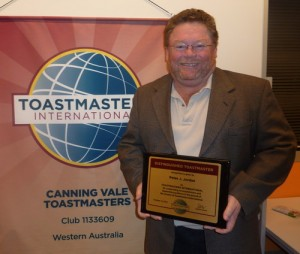 Peter with his DTM Plaque