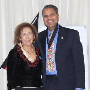 Andre with his DTM medal and District Director Leonor Ragan at the D17 Convention